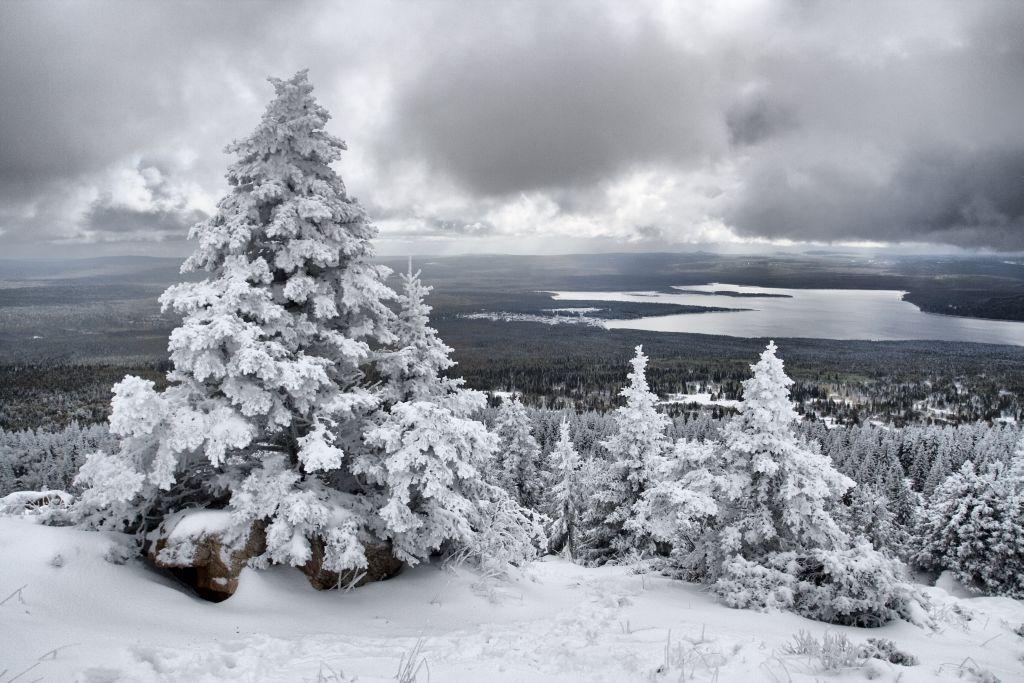 Пейзаж декабрь для Бианки