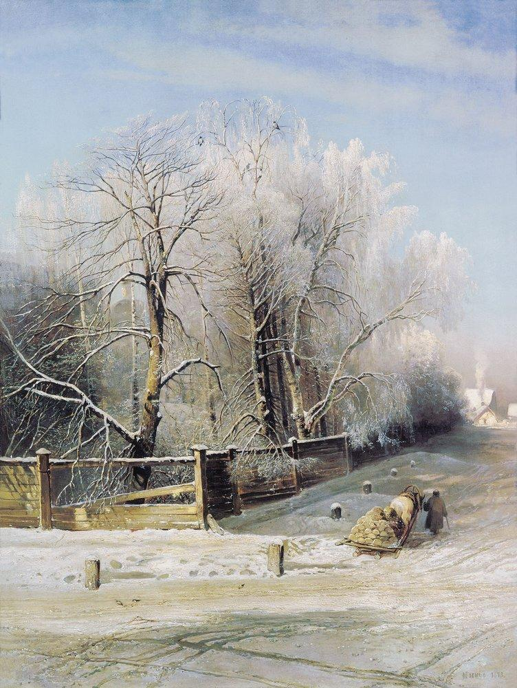 зимний пейзаж. москва 1873г.