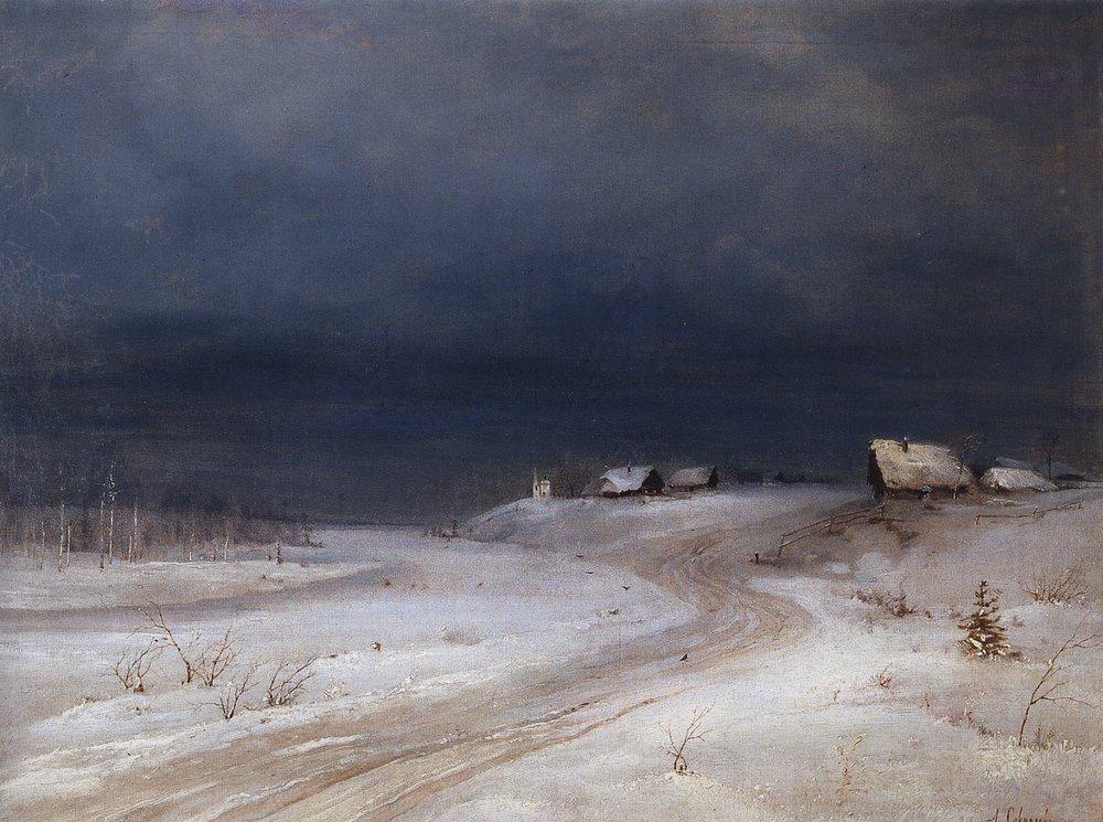 зимний пейзаж. 1880-1890 г